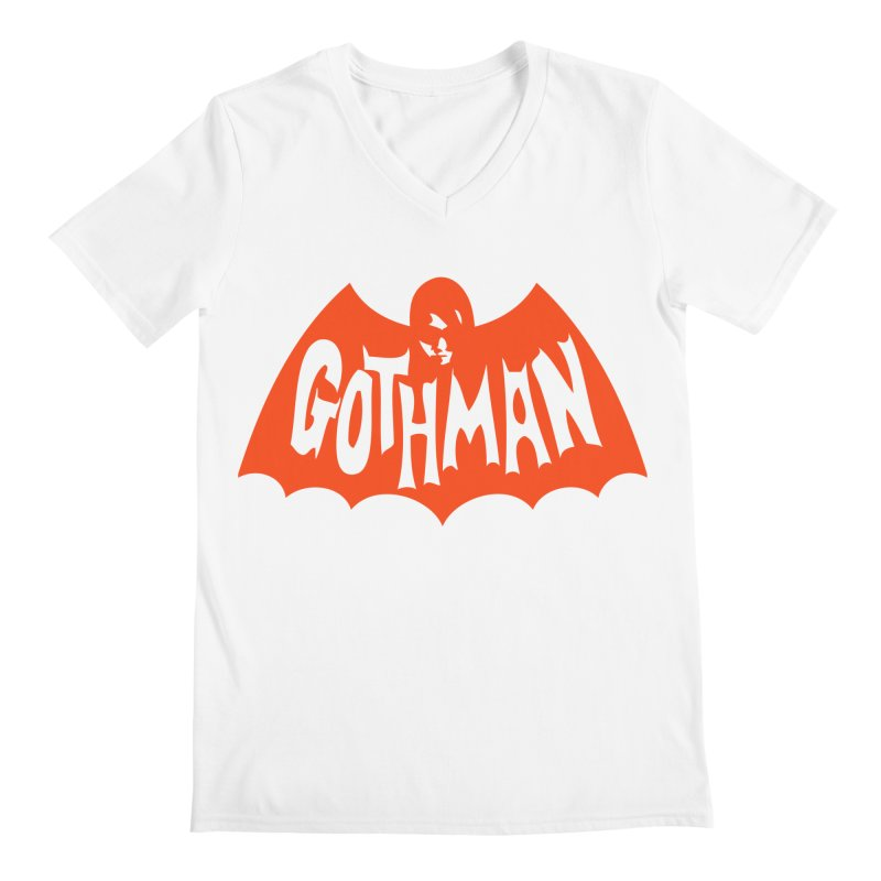 Gothman Classic Orange Men's V-Neck by Gothman Flavored Clothing