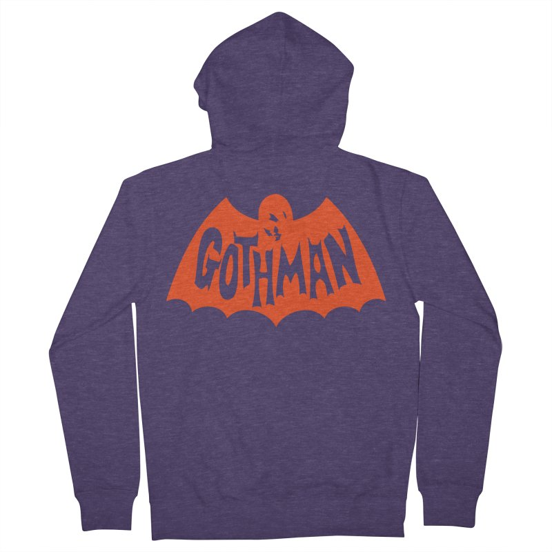 Gothman Classic Orange Men's French Terry Zip-Up Hoody by Gothman Flavored Clothing
