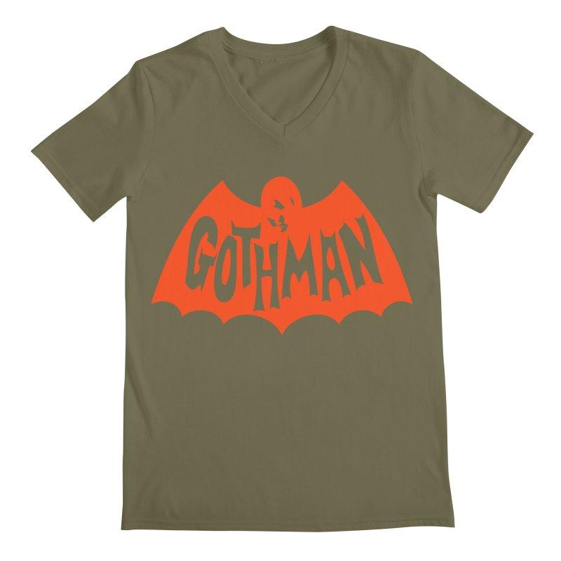Gothman Classic Orange Men's Regular V-Neck by Gothman Flavored Clothing