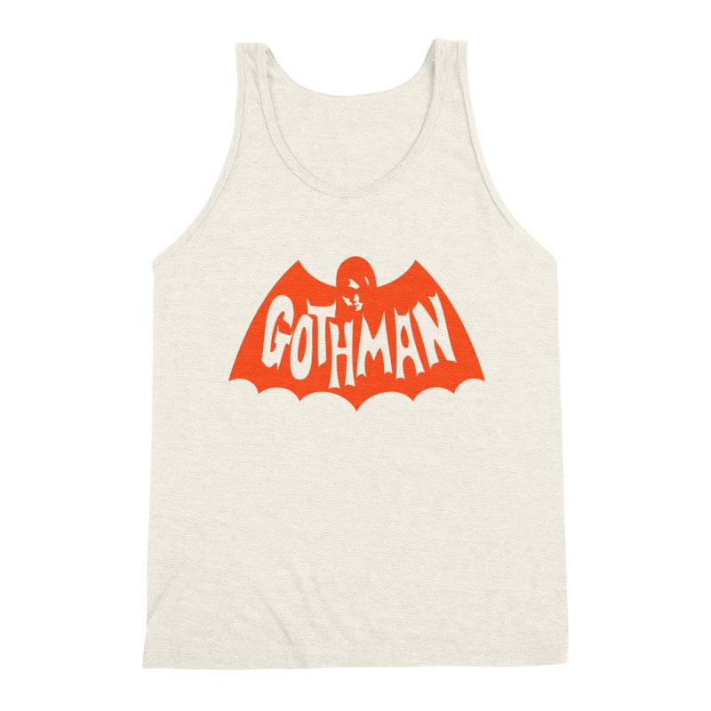 Gothman Classic Orange Men's Triblend Tank by Gothman Flavored Clothing