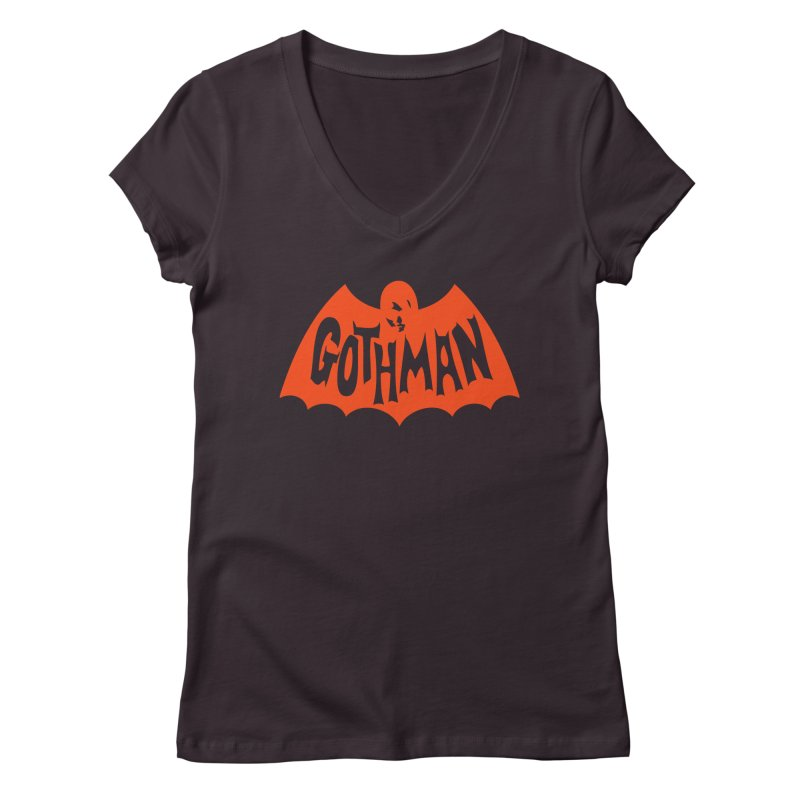 Gothman Classic Orange Women's Regular V-Neck by Gothman Flavored Clothing