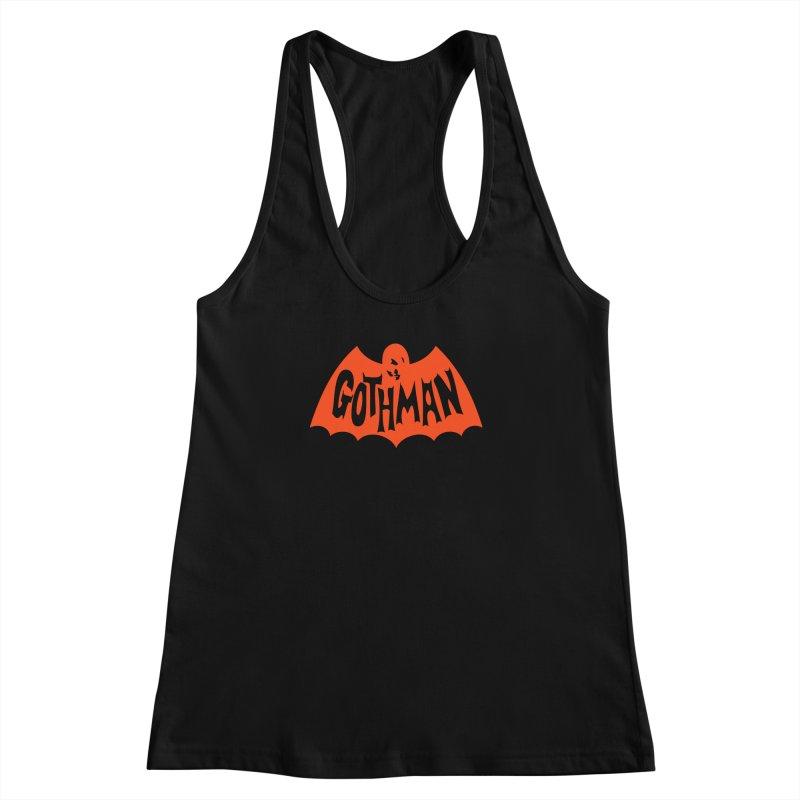 Gothman Classic Orange Women's Racerback Tank by Gothman Flavored Clothing