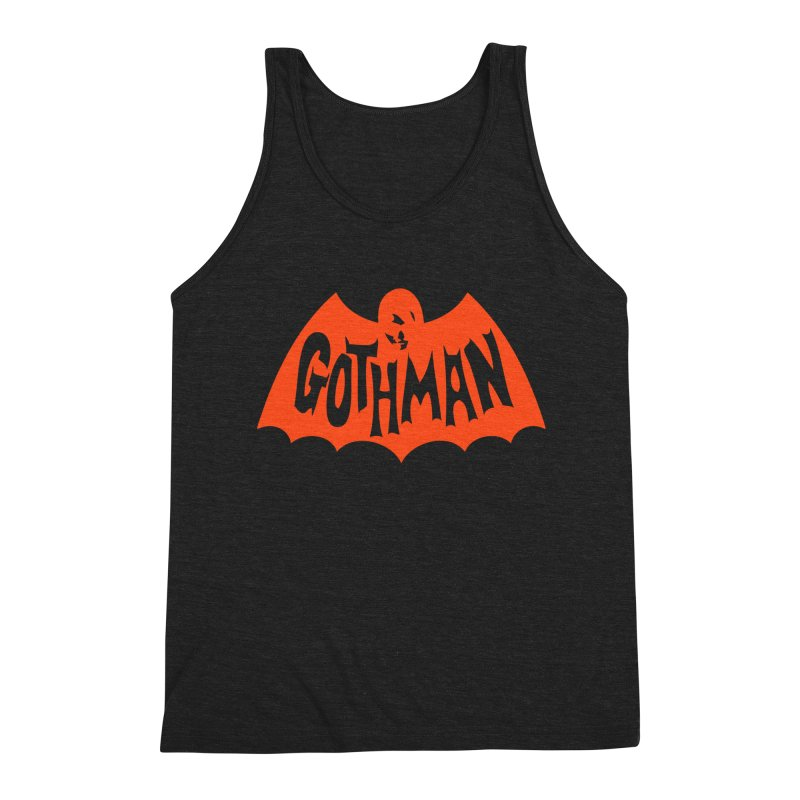 Gothman Classic Orange Men's Triblend Tank by Gothman Flavored Clothing