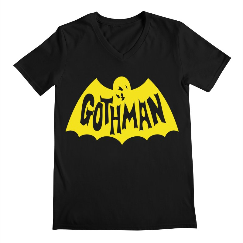 Gothman Classic Gold in Men's V-Neck Black by Gothman Flavored Clothing