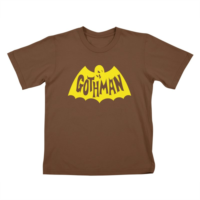Gothman Classic Gold Kids T-Shirt by Gothman Flavored Clothing