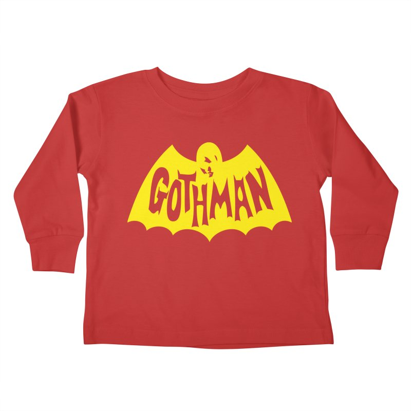 Gothman Classic Gold Kids Toddler Longsleeve T-Shirt by Gothman Flavored Clothing