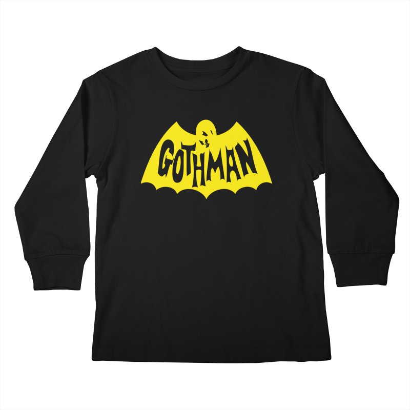 Gothman Classic Gold Kids Longsleeve T-Shirt by Gothman Flavored Clothing