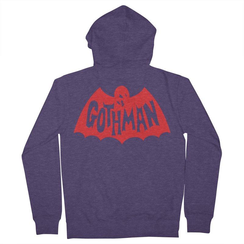 Gothman Classic Crimson Men's Zip-Up Hoody by Gothman Flavored Clothing
