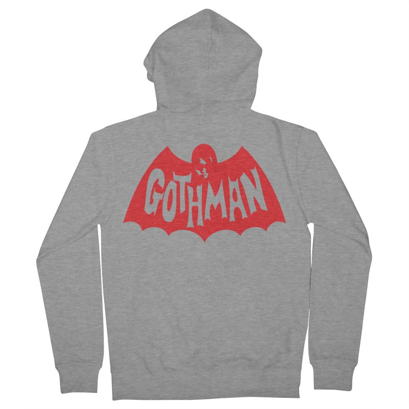 Gothman Classic Crimson Men's French Terry Zip-Up Hoody by Gothman Flavored Clothing