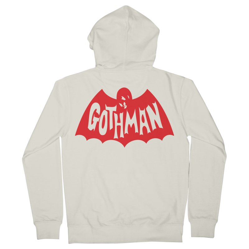 Gothman Classic Crimson Men's Zip-Up Hoody by Gothman Flavored Clothing