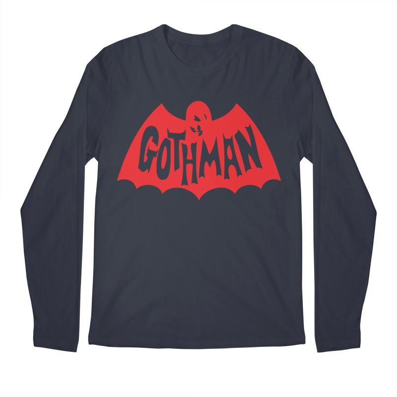 Gothman Classic Crimson Men's Regular Longsleeve T-Shirt by Gothman Flavored Clothing