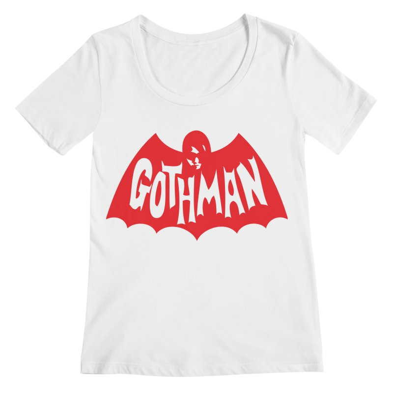 Gothman Classic Crimson Women's Regular Scoop Neck by Gothman Flavored Clothing