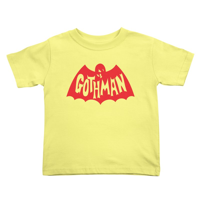 Gothman Classic Crimson Kids Toddler T-Shirt by Gothman Flavored Clothing