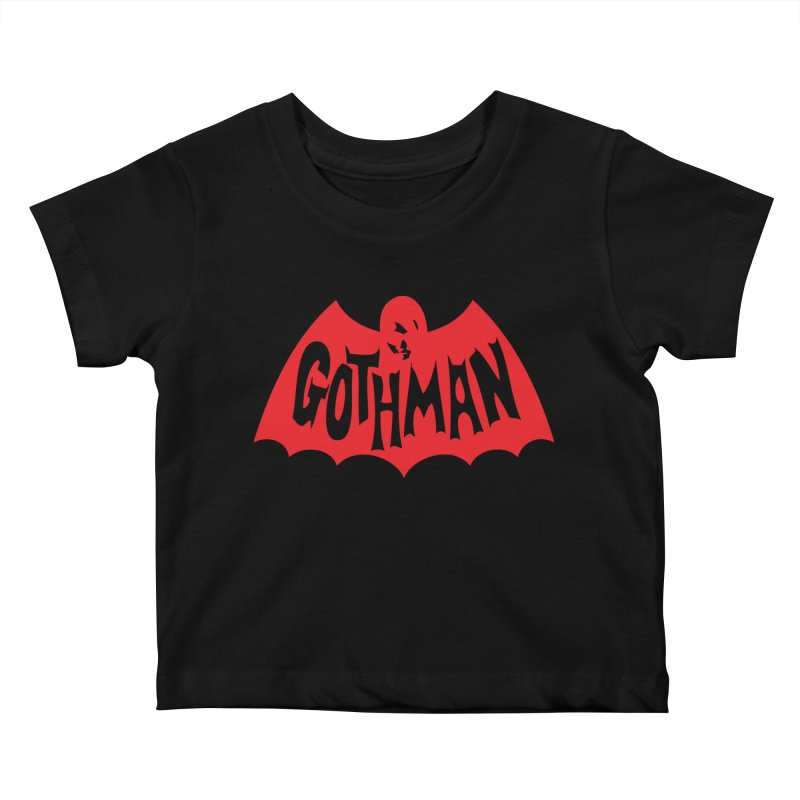 Gothman Classic Crimson Kids Baby T-Shirt by Gothman Flavored Clothing
