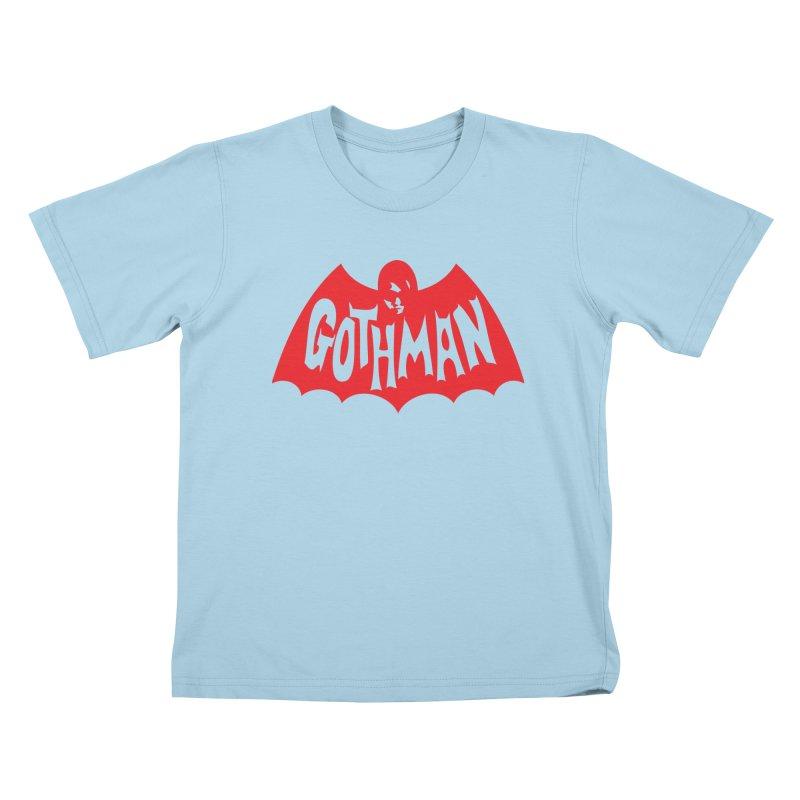 Gothman Classic Crimson Kids T-Shirt by Gothman Flavored Clothing