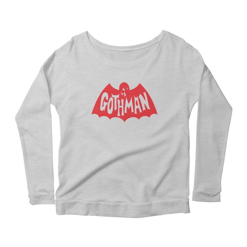 Gothman Classic Crimson Women's Longsleeve Scoopneck  by Gothman Flavored Clothing