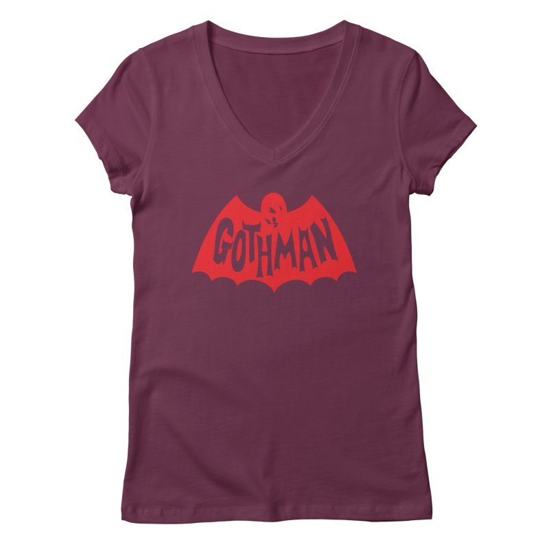 Gothman Classic Crimson Women's Regular V-Neck by Gothman Flavored Clothing
