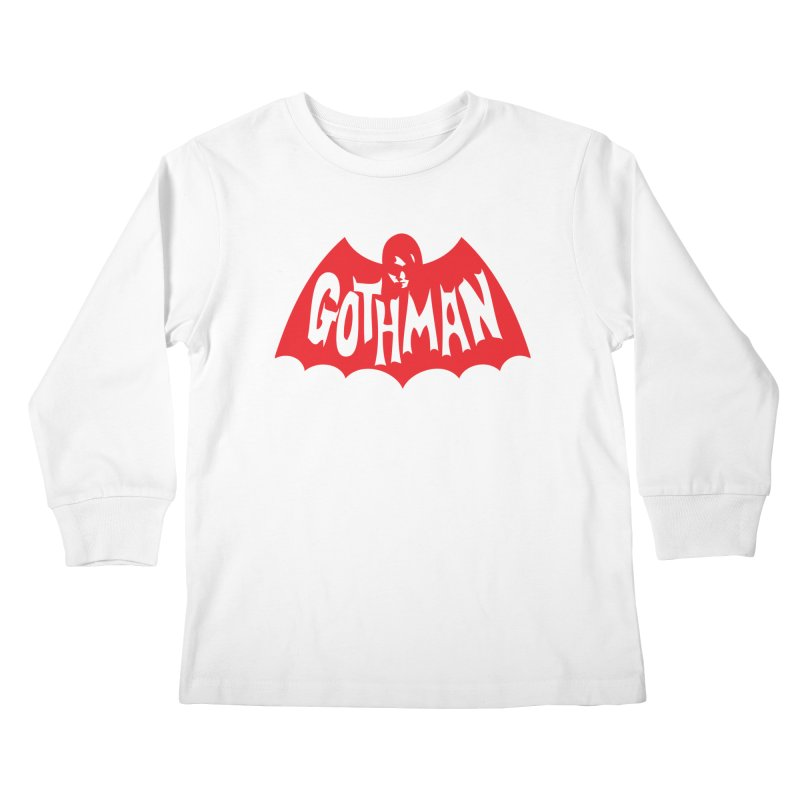 Gothman Classic Crimson Kids Longsleeve T-Shirt by Gothman Flavored Clothing