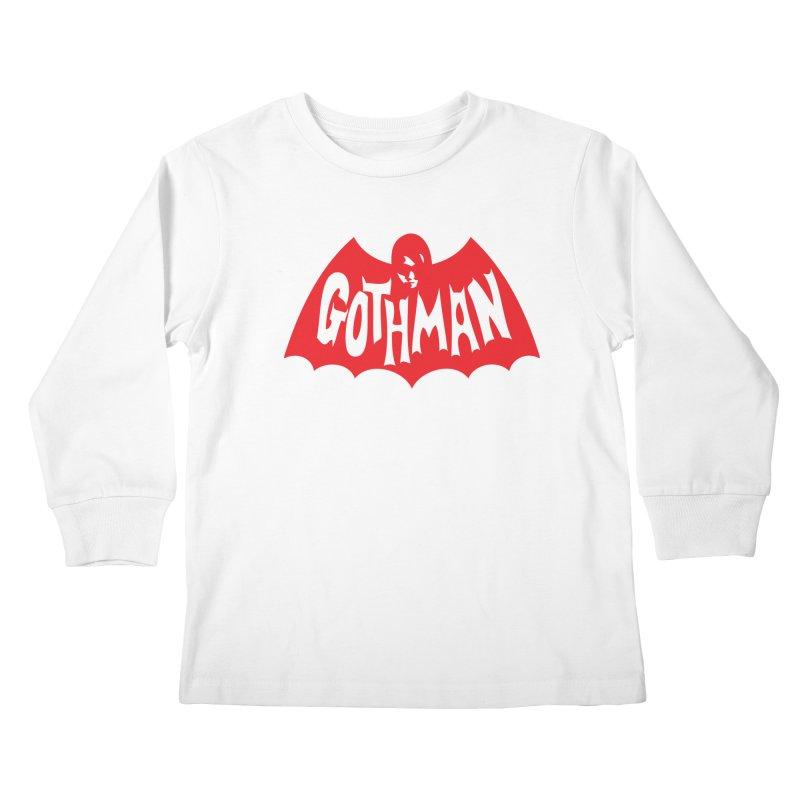 Gothman Classic Crimson Kids Longsleeve T-Shirt by Gothman Flavored Clothing
