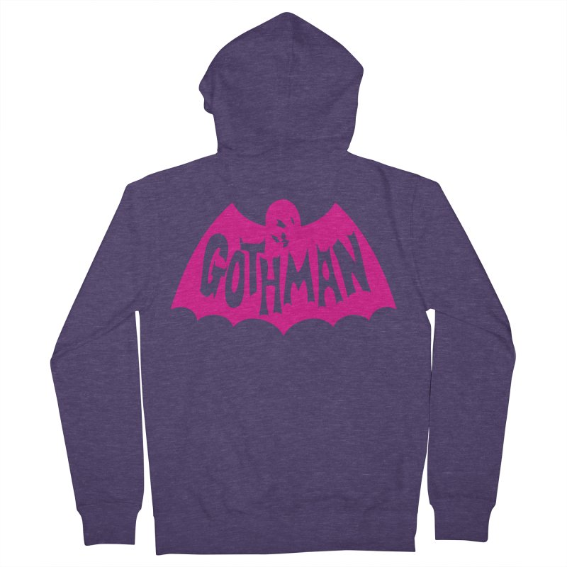 Gothman Classic Magenta Men's Zip-Up Hoody by Gothman Flavored Clothing