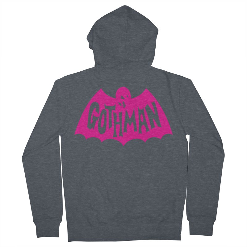 Gothman Classic Magenta Men's French Terry Zip-Up Hoody by Gothman Flavored Clothing