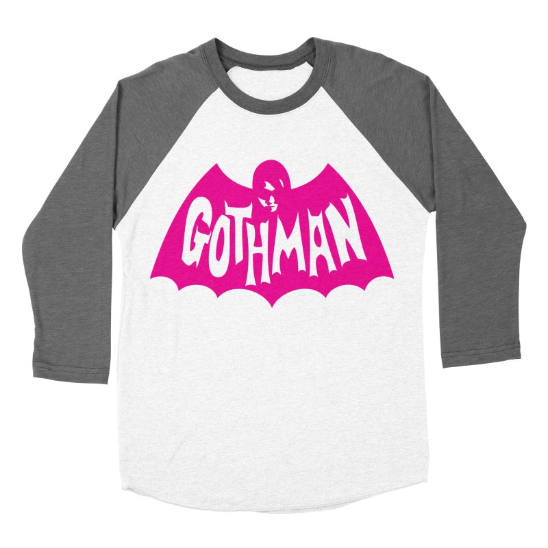 Gothman Classic Magenta Women's Baseball Triblend T-Shirt by Gothman Flavored Clothing