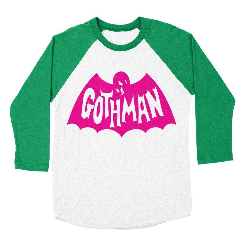 Gothman Classic Magenta Men's Baseball Triblend T-Shirt by Gothman Flavored Clothing