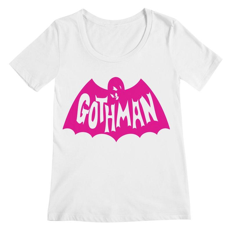 Gothman Classic Magenta Women's Regular Scoop Neck by Gothman Flavored Clothing