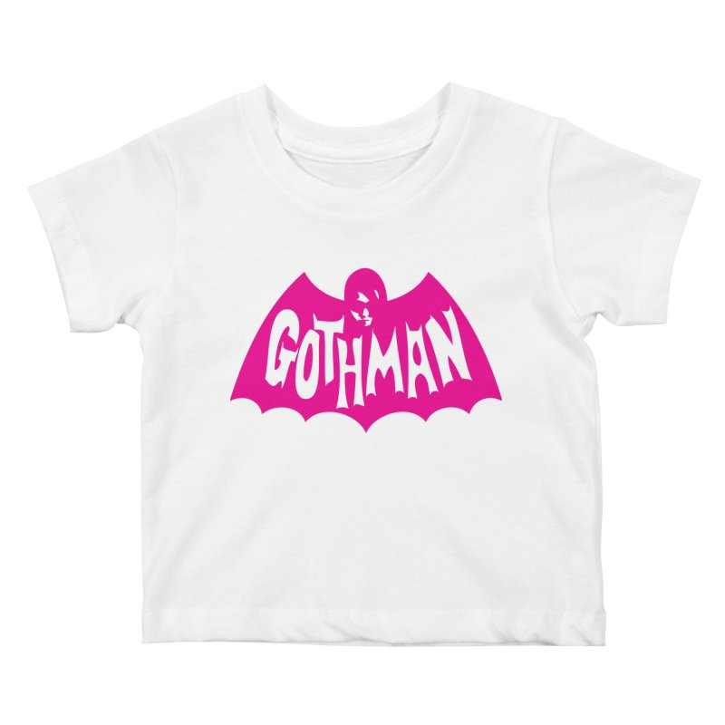 Gothman Classic Magenta Kids Baby T-Shirt by Gothman Flavored Clothing