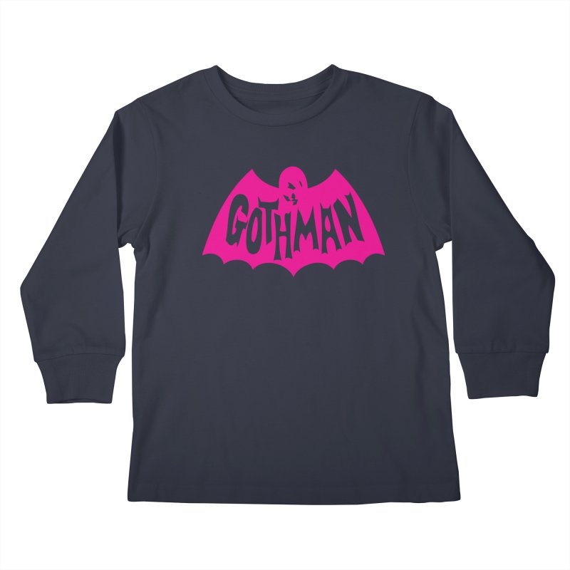 Gothman Classic Magenta Kids Longsleeve T-Shirt by Gothman Flavored Clothing
