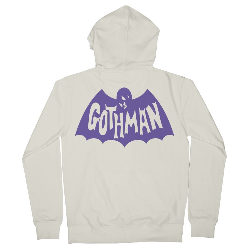 Gothman Classic Violet Men's French Terry Zip-Up Hoody by Gothman Flavored Clothing