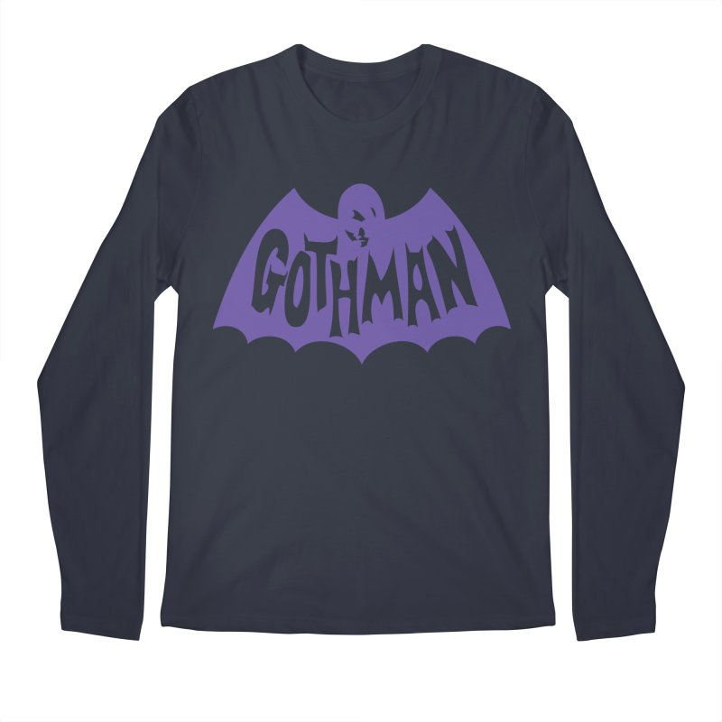 Gothman Classic Violet Men's Regular Longsleeve T-Shirt by Gothman Flavored Clothing