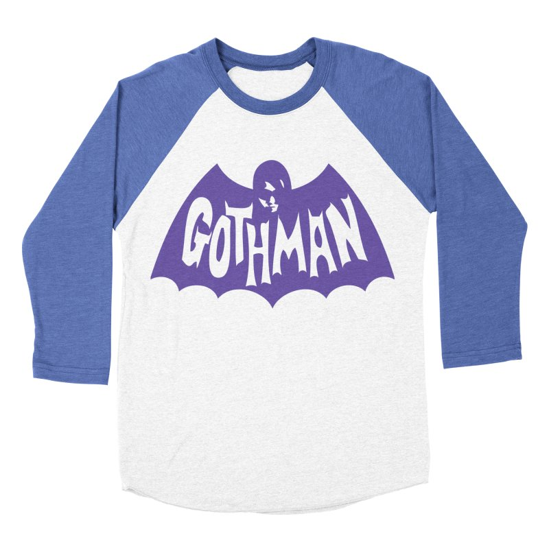 Gothman Classic Violet Women's Baseball Triblend T-Shirt by Gothman Flavored Clothing