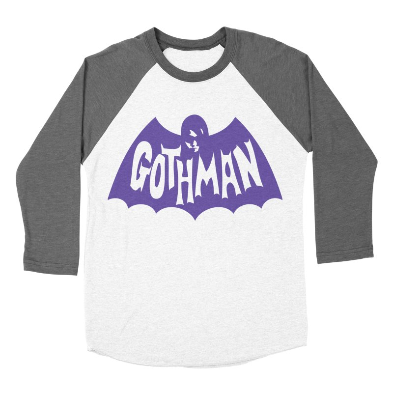 Gothman Classic Violet Men's Baseball Triblend T-Shirt by Gothman Flavored Clothing