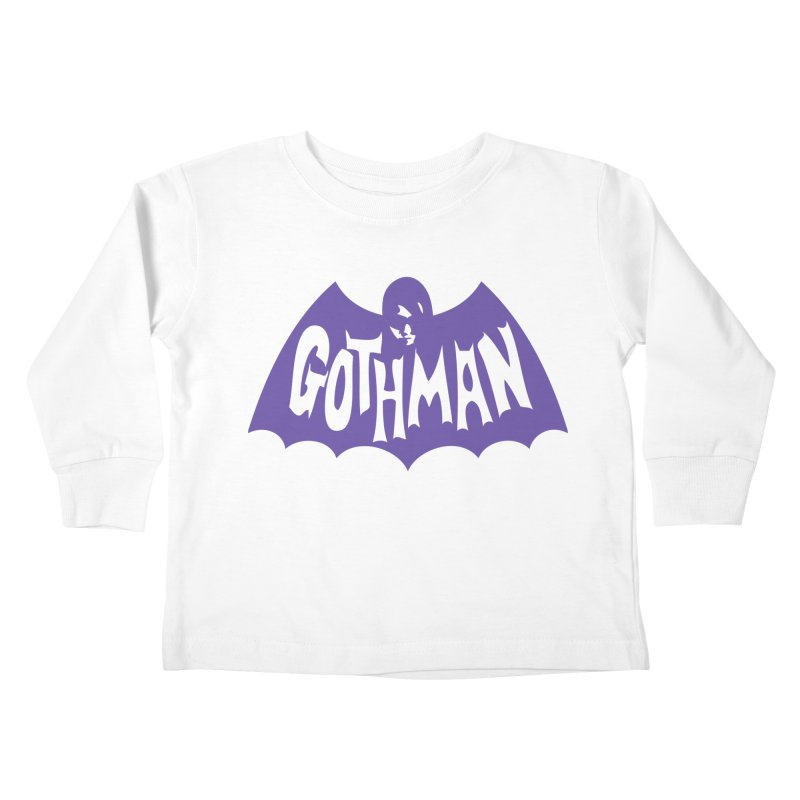 Gothman Classic Violet Kids Toddler Longsleeve T-Shirt by Gothman Flavored Clothing