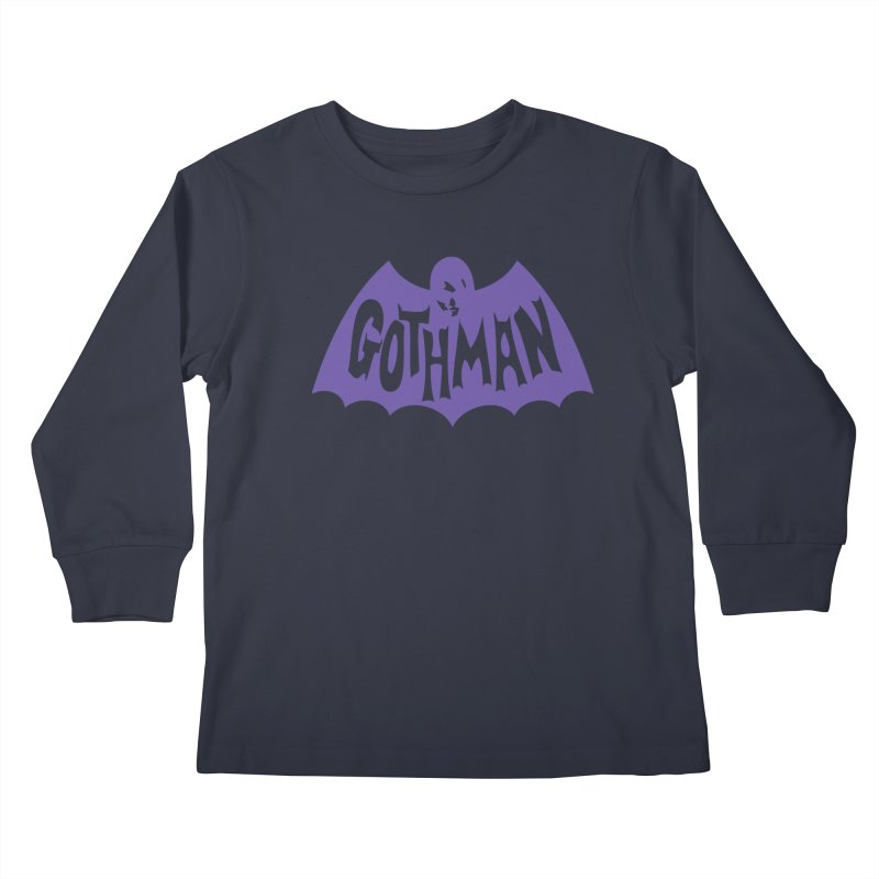 Gothman Classic Violet Kids Longsleeve T-Shirt by Gothman Flavored Clothing