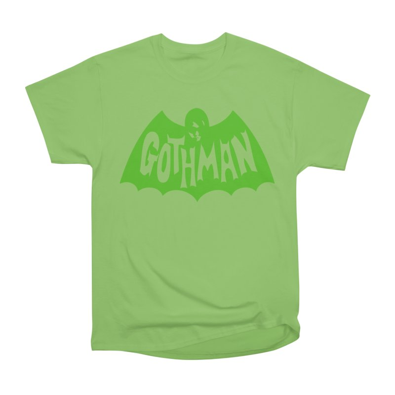 Gothman Classic Green Men's Heavyweight T-Shirt by Gothman Flavored Clothing