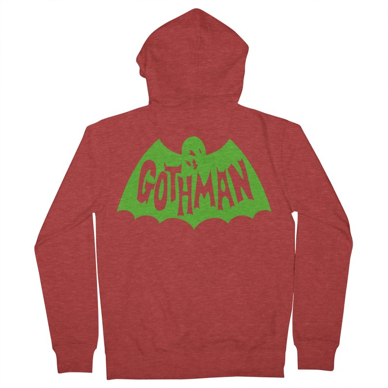 Gothman Classic Green Men's Zip-Up Hoody by Gothman Flavored Clothing
