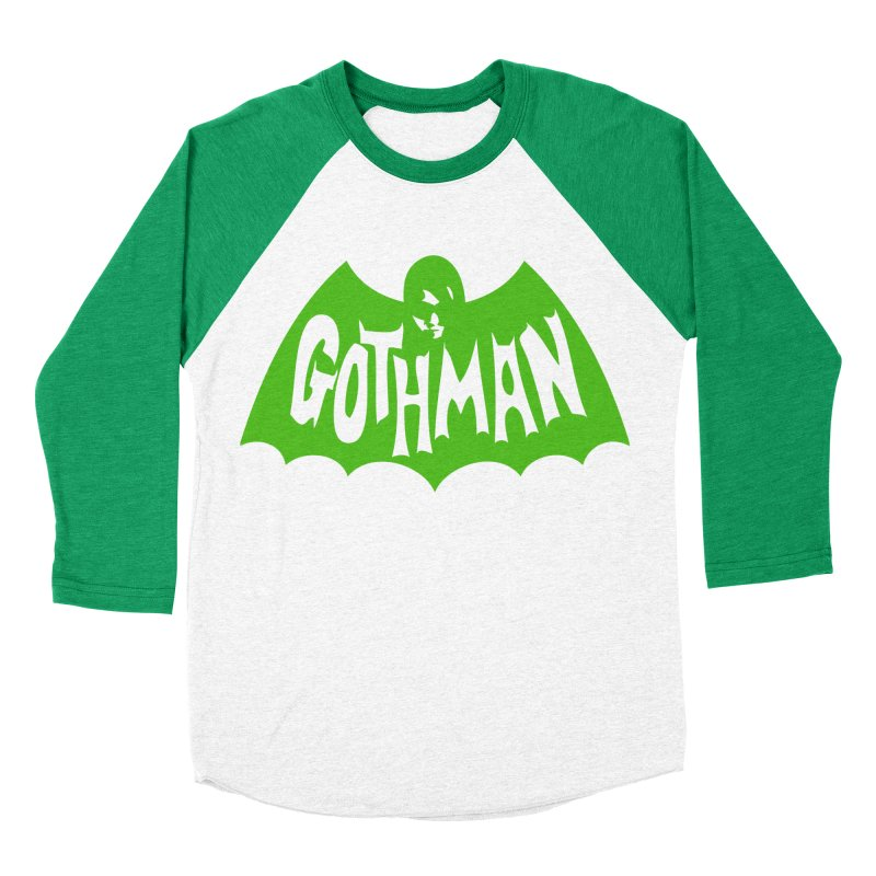Gothman Classic Green Women's Baseball Triblend T-Shirt by Gothman Flavored Clothing