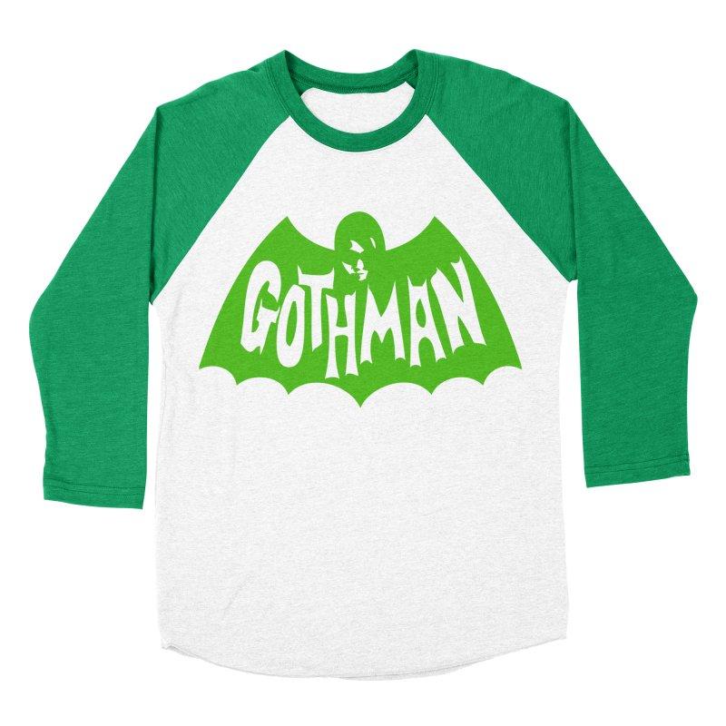 Gothman Classic Green Men's Baseball Triblend T-Shirt by Gothman Flavored Clothing