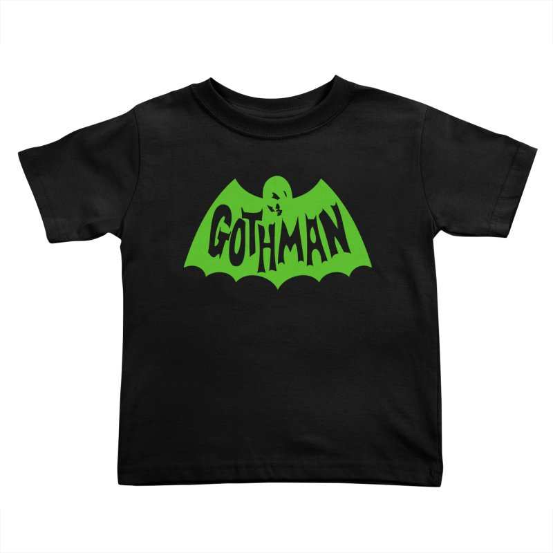 Gothman Classic Green Kids Toddler T-Shirt by Gothman Flavored Clothing