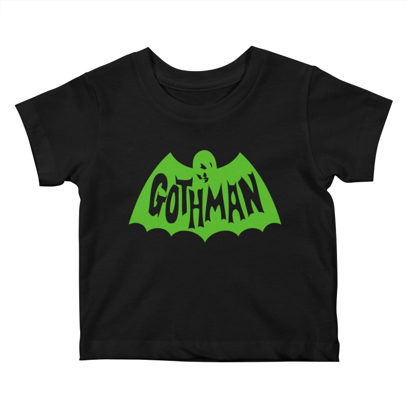 Gothman Classic Green Kids Baby T-Shirt by Gothman Flavored Clothing