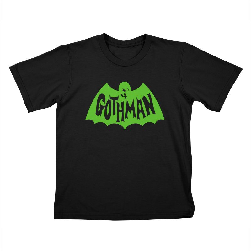 Gothman Classic Green Kids T-Shirt by Gothman Flavored Clothing