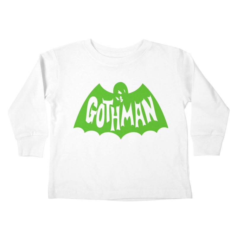 Gothman Classic Green Kids Toddler Longsleeve T-Shirt by Gothman Flavored Clothing