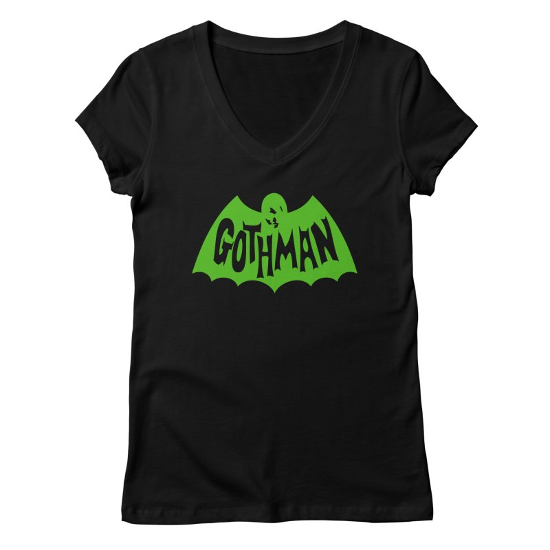 Gothman Classic Green Women's V-Neck by Gothman Flavored Clothing