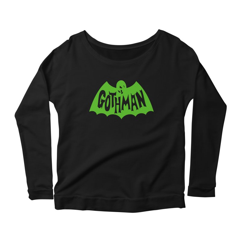 Gothman Classic Green Women's Longsleeve Scoopneck  by Gothman Flavored Clothing