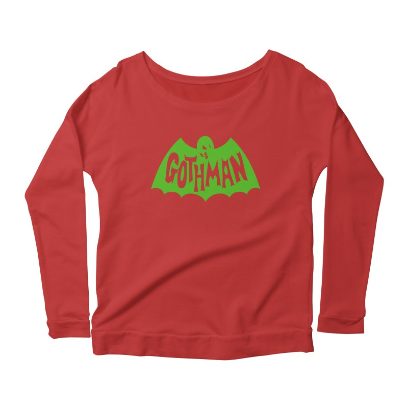 Gothman Classic Green Women's Scoop Neck Longsleeve T-Shirt by Gothman Flavored Clothing