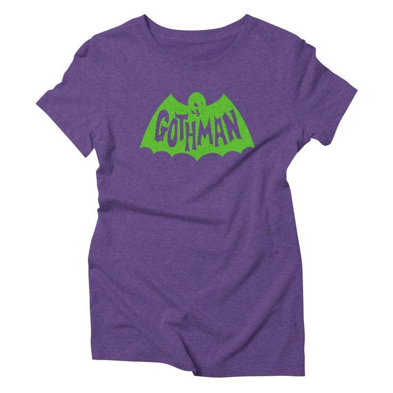 Gothman Classic Green Women's Triblend T-Shirt by Gothman Flavored Clothing