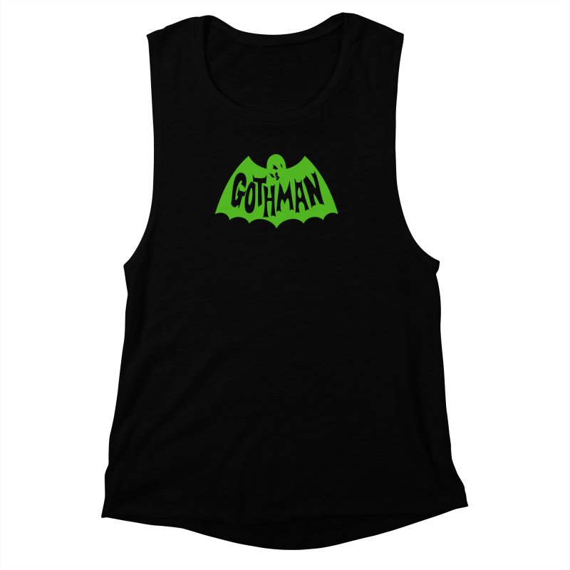Gothman Classic Green Women's Muscle Tank by Gothman Flavored Clothing