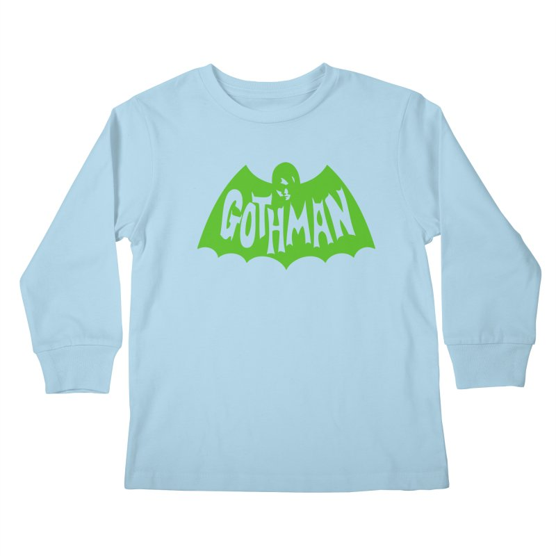 Gothman Classic Green Kids Longsleeve T-Shirt by Gothman Flavored Clothing
